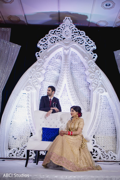 Sensational Indian wedding stage.