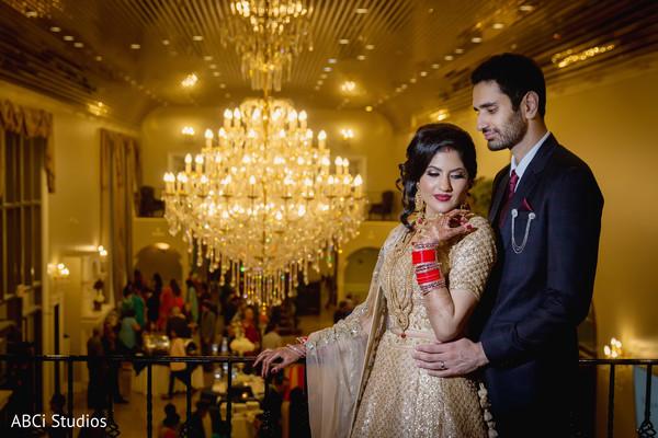 Elegant Sikh newlyweds.