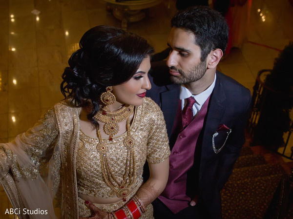 Gorgeous Indian bride and groom.