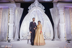 Indian wedding reception photography.
