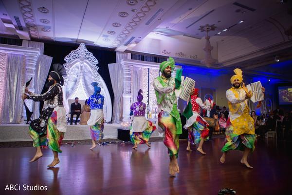 Indian wedding Bollywood dancers.