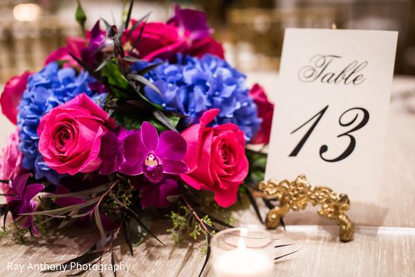 Colorful floral table centerpiece