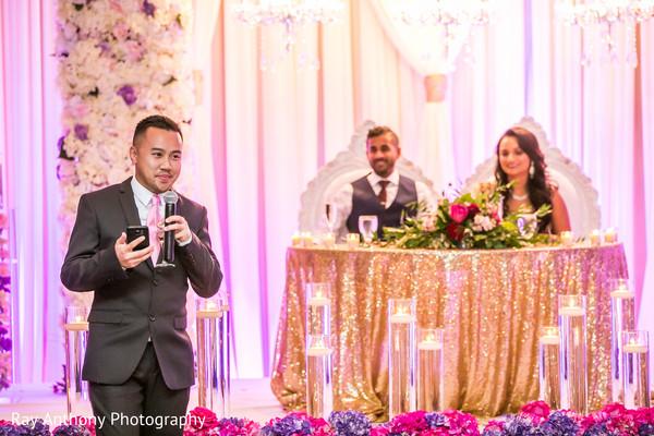 Indian wedding reception speech scene