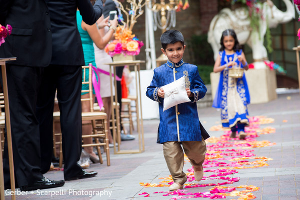 indian ring bearer boy,indian wedding ceremony,floral and decor