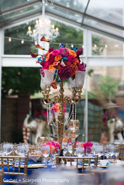 indian wedding reception,floral and decor,floral centerpieces,planning and design