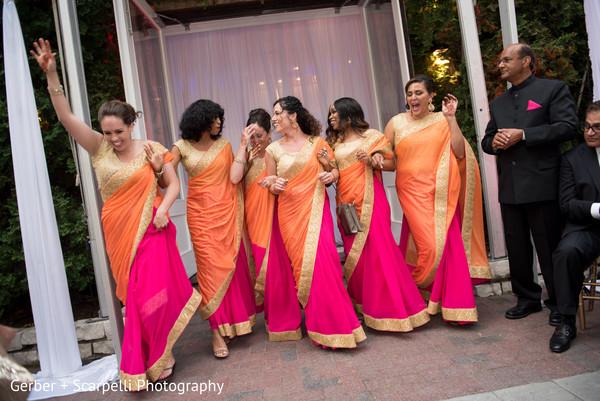 indian bridesmaids,saree,bridal party,bridesmaids fashion