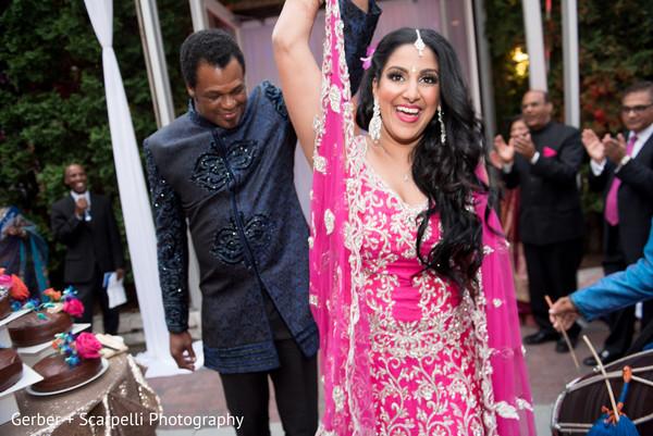indian bride and groom,reception fashion,indian wedding reception