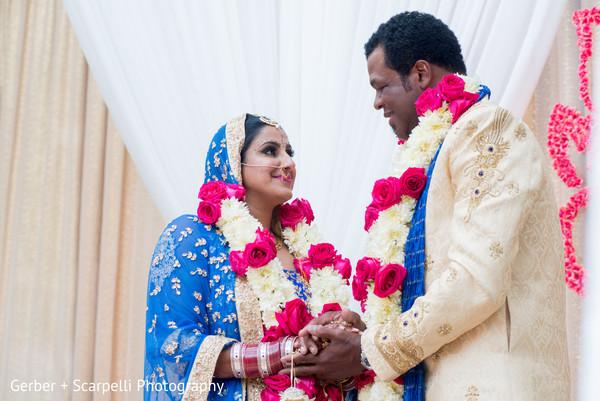 indian wedding,indian newlyweds