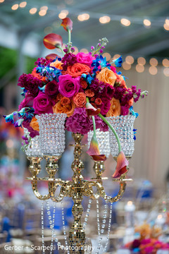 Lovely chandelier indian wedding centerpieces