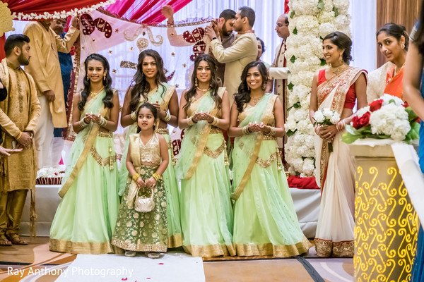 2f0c26f36c Indian bridesmaids with flower girl capture