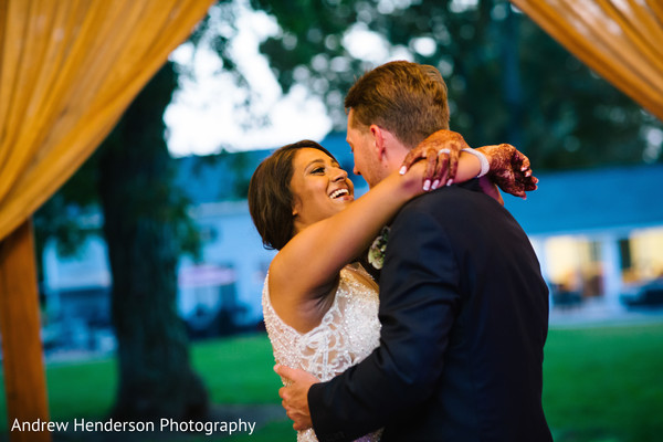 Sweet Indian bride and groom first dance.