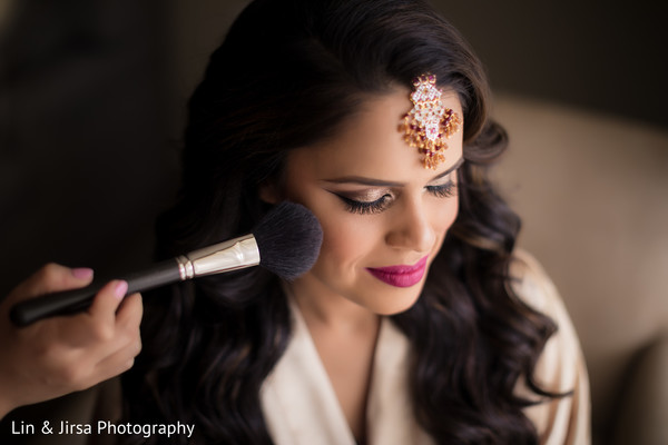 Indian beauty getting ready for her big day.