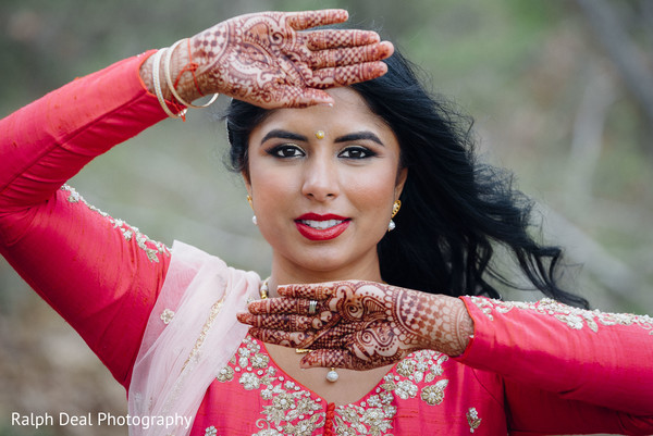 Delightful indian bride portrait
