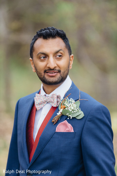 Indian groom portrait
