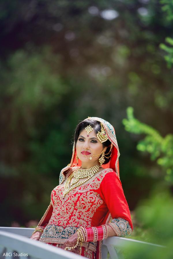 Dreamy Indian bride.