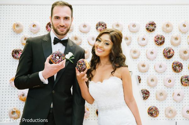 Indian wedding donut wall display.