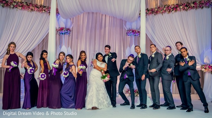 indian bridal party,indian bridesmaids,indian groomsmen
