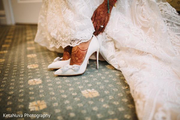 Adorable indian bride heels