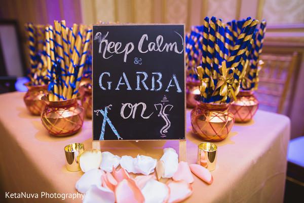 Keep calm and Garba on sign