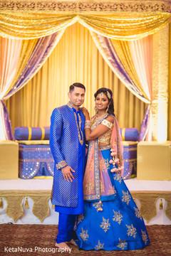 Perfect royal blue sangeet fashion