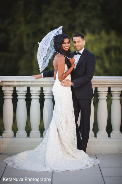 Marvelous Indian Bride In Her White Wedding Dress Somerset NJ Fusion By