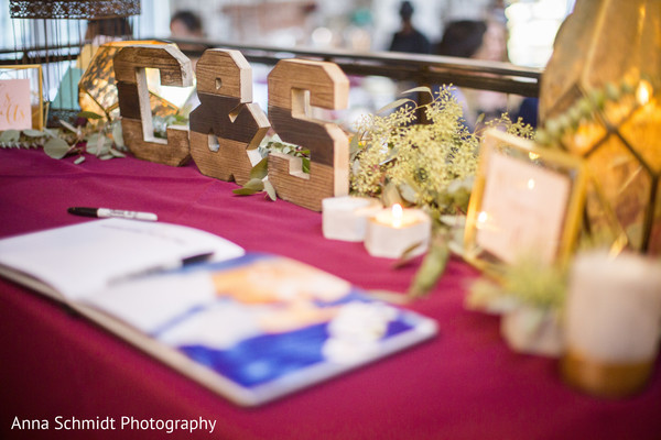 Heart melting Indian wedding guest book table. | Photo 142340