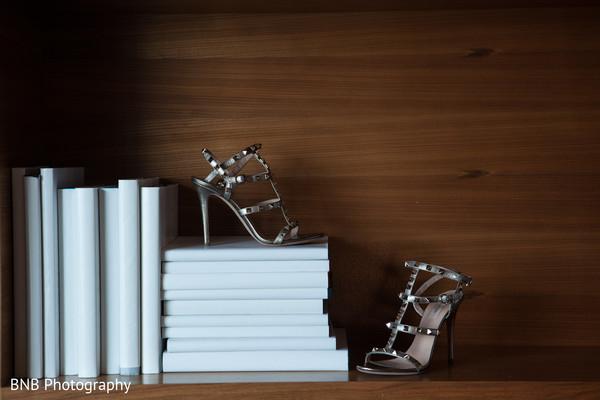 Glamorous indian bride shoes
