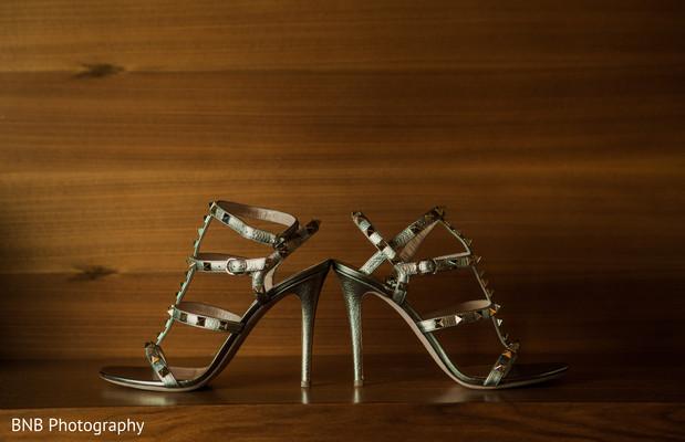 Indian bridal shoes capture