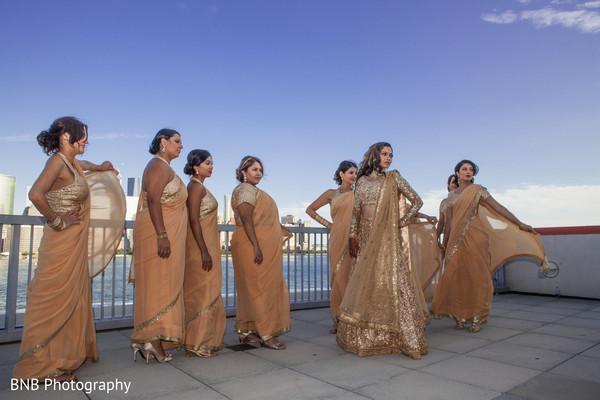 Ravishing indian bride and bridesmaids photo session