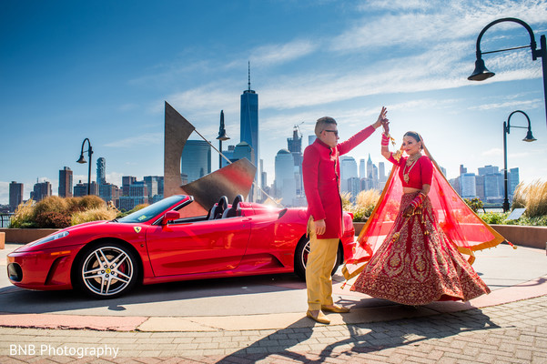 Dreamy indian bride and groom photo session