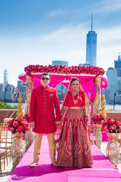 Indian bride and groom wedding photography