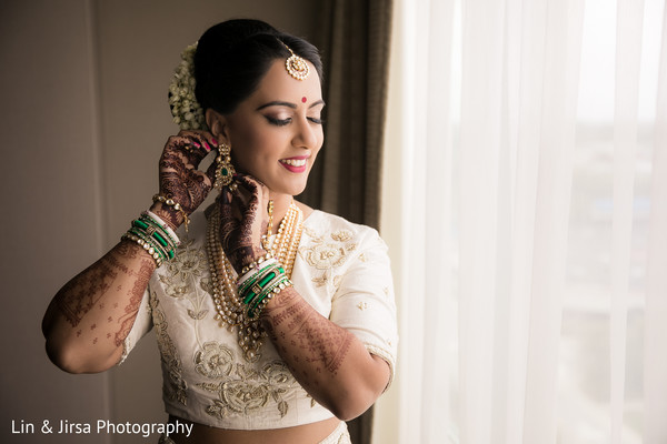 getting ready,indian bride fashion,hair and makeup