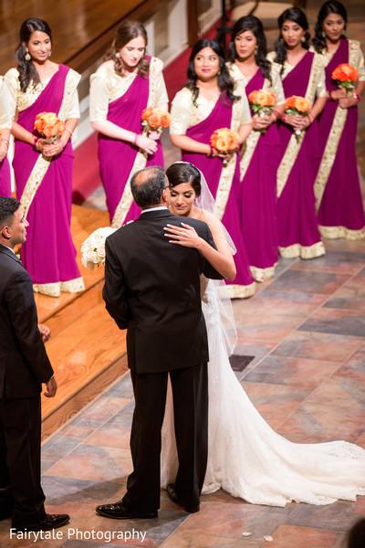 Indian lovebirds during wedding ceremony