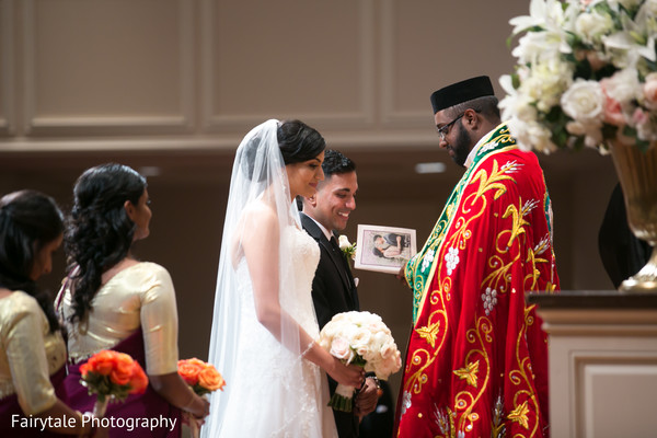 Adorable indian couple at their wedding ceremony