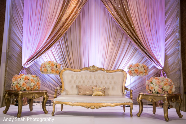 Marvelous indian wedding reception stage decor