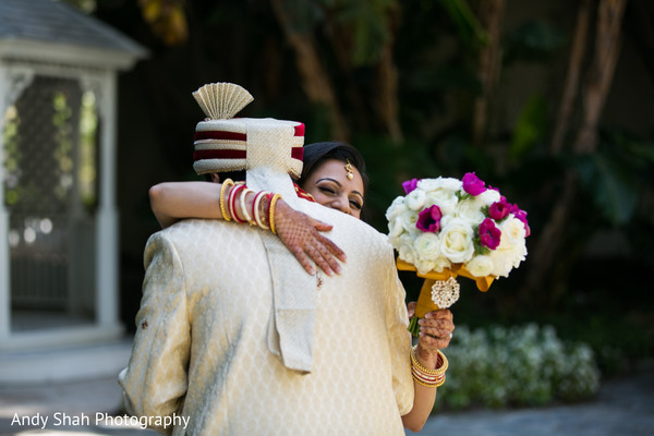Heart melting indian bride and groom first look