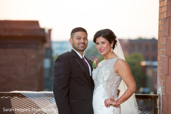 Adorable indian bride and groom portrait