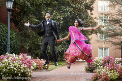 Graceful Indian bride and groom photo.