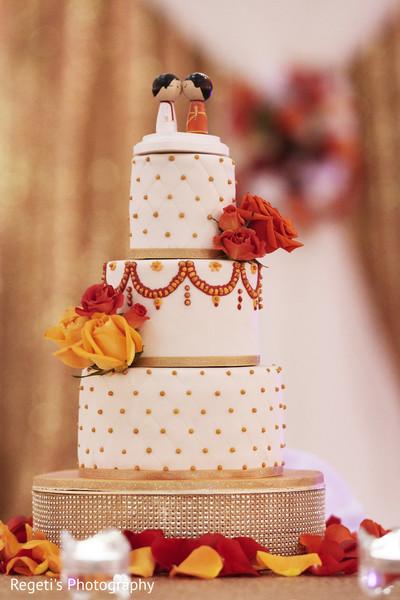 Cute Indian wedding cake topper.