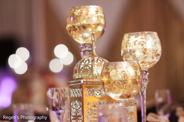 Marvelous Indian wedding reception decor.