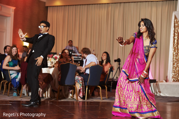 indian wedding reception,indian bride and groom,dj,choreography