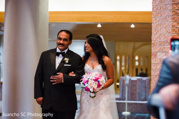 indian christian wedding ceremony,indian bride,bridal bouquet
