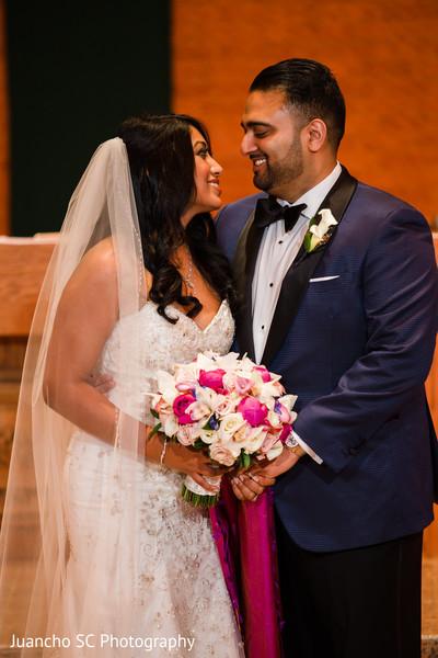 Loving Indian bride and groom portrait.