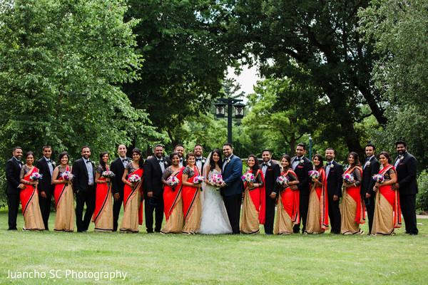 indian wedding entourage,indian bride and groom,indian wedding photography