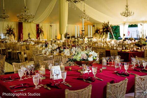 Luxury indian wedding reception venue decor
