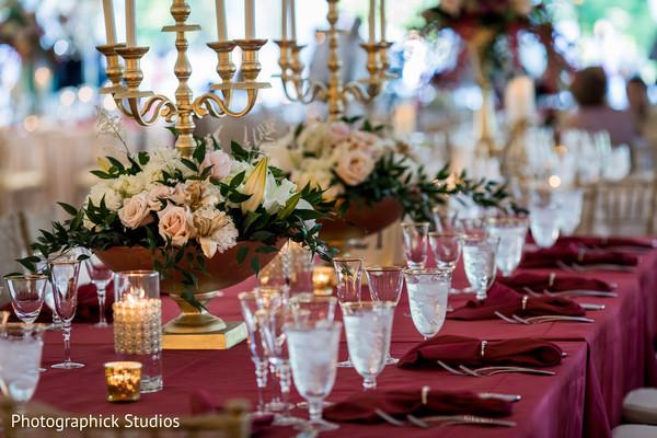 Indian wedding sophisticated decor