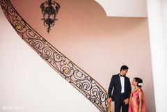 Elegant Indian bride and groom photo session.