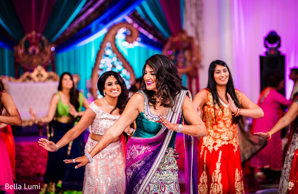 Traditional sangeet dance choreography