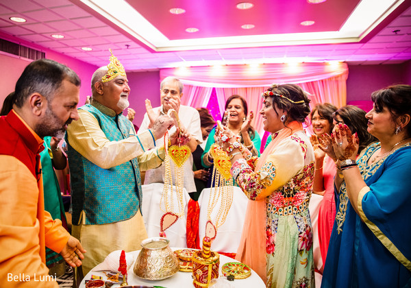 Indian pre-wedding ceremony scene