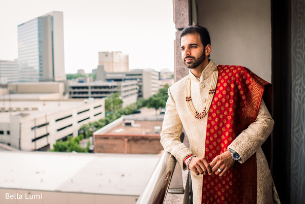 Elegant indian groom wedding outfit